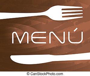 menu, vetorial