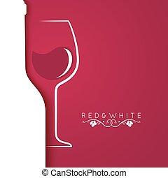 menu, vetro, disegno, fondo, logotipo, vino