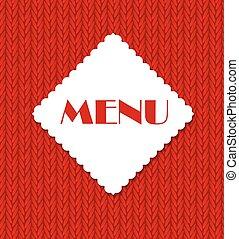 menu, vettore, sagoma, illustrazione, ristorante