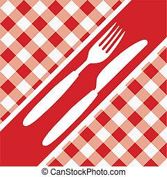 menu, vichy, carte rouge