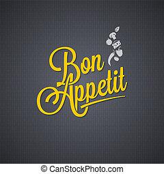 Menu vintage lettering background