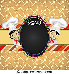 menu, vrchní kuchař