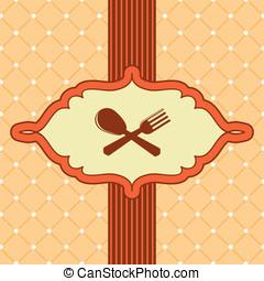 menu, wektor, osłona