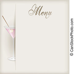 Menu with martini
