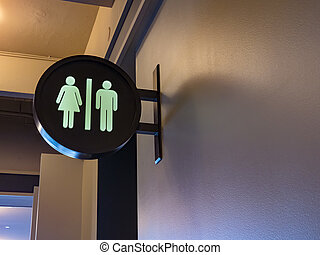 men/women, restroom sign
