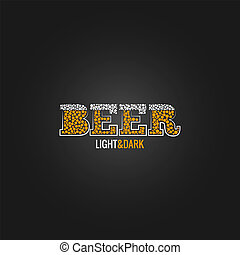 meny, öl, design, bakgrund