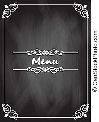meny, chalkboard, design
