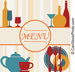 meny, design, bakgrund, restaurang