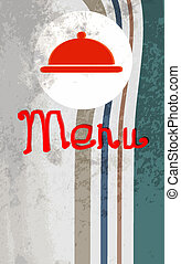 meny, design, vector., restaurang