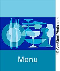 meny, gabarit, restaurant, barre