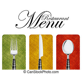 meny, restaurang