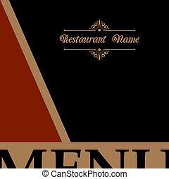 meny, stil, design, retro, restaurang