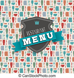 meny, vektor, design, restaurang