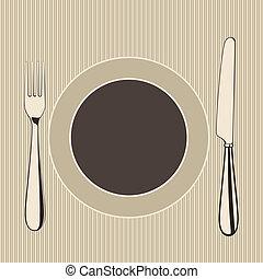 meny, vektor, restaurang, design
