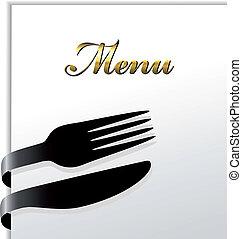 meny, vektor, restaurang