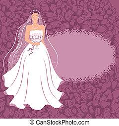 menyasszony, bouquet.