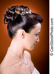 menyasszony, frizura