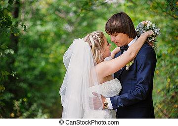 menyasszony inas, helyett, jár dísztér