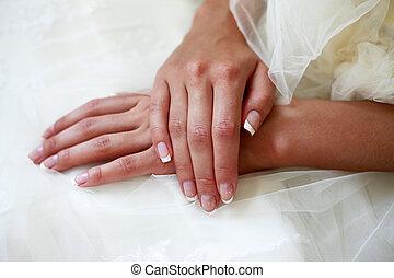 menyasszony, kézbesít