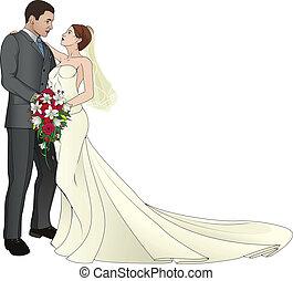 menyasszony, lovász