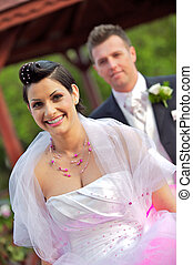 menyasszony, wedding:, lovász