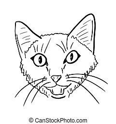Meowing cat illustration