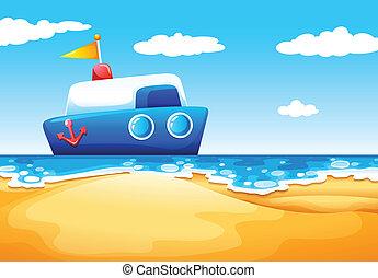 mer, bateau