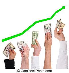 mer, begrepp, dollar, dyrbar, få