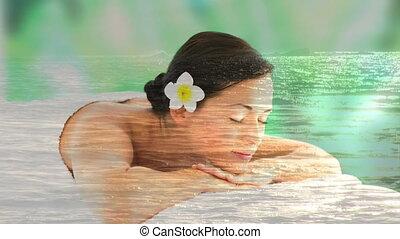 mer, délassant, paisible, belles femmes, spa, paysage