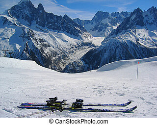 Mer de Glace glacier, Chamonix, France