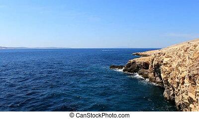 mer, falaise, flotteur, bateau