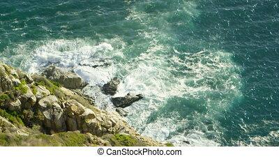 mer, jour ensoleillé, 4k