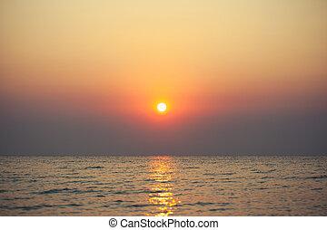 mer, levers de soleil