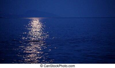 mer, piste, surface, lunaire
