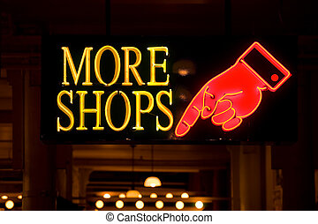 mer, shoppar