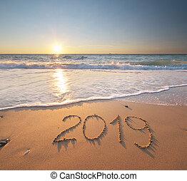 mer, shore., année, 2019