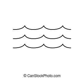 mer, vagues