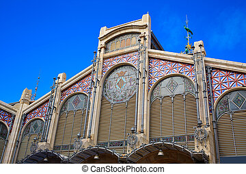 mercado, バレンシア, 中央である, スペイン, 市場