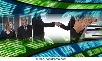 mercado, acción, empresa / negocio