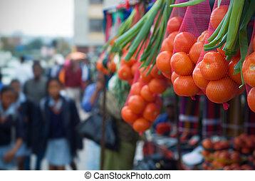 mercado, africano