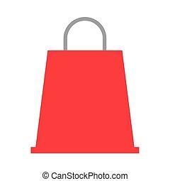 mercado, aislado, icono, bolsa, compras