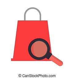 mercado, aumentar, bolsa, vidrio, compras