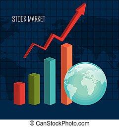 mercado conservado estoque, câmbio
