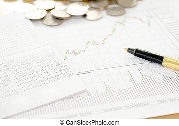 mercado conservado estoque, finanças, investimento, relatório