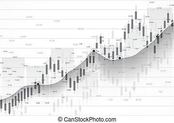 mercado conservado estoque, ou, forex, negociar, gráfico, mapa, suitable, para, investimento financeiro, concept., economia, tendências, fundo, para, negócio, idea., abstratos, finanças, experiência., vetorial, illustration.