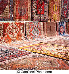 mercado de calle, alfombra