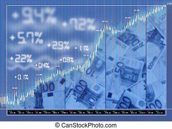 mercado de valores, plano de fondo, intercambio