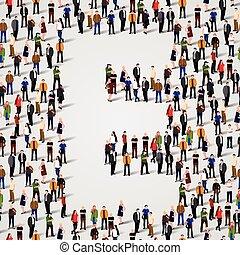 mercado de zurique, forma, pessoas, grande, letra, grupo