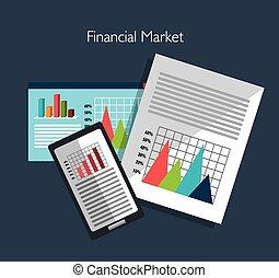 mercado financeiro, gráfico