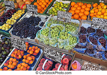 mercado, fruits